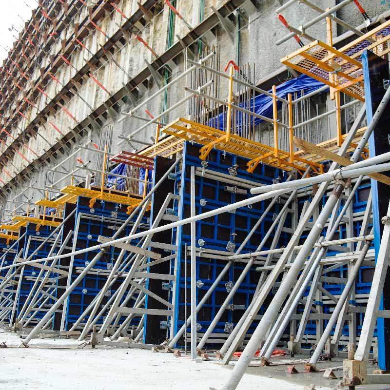 Scaffolding and formwork system light duty steel panel systems wall formwork column formwork shutters